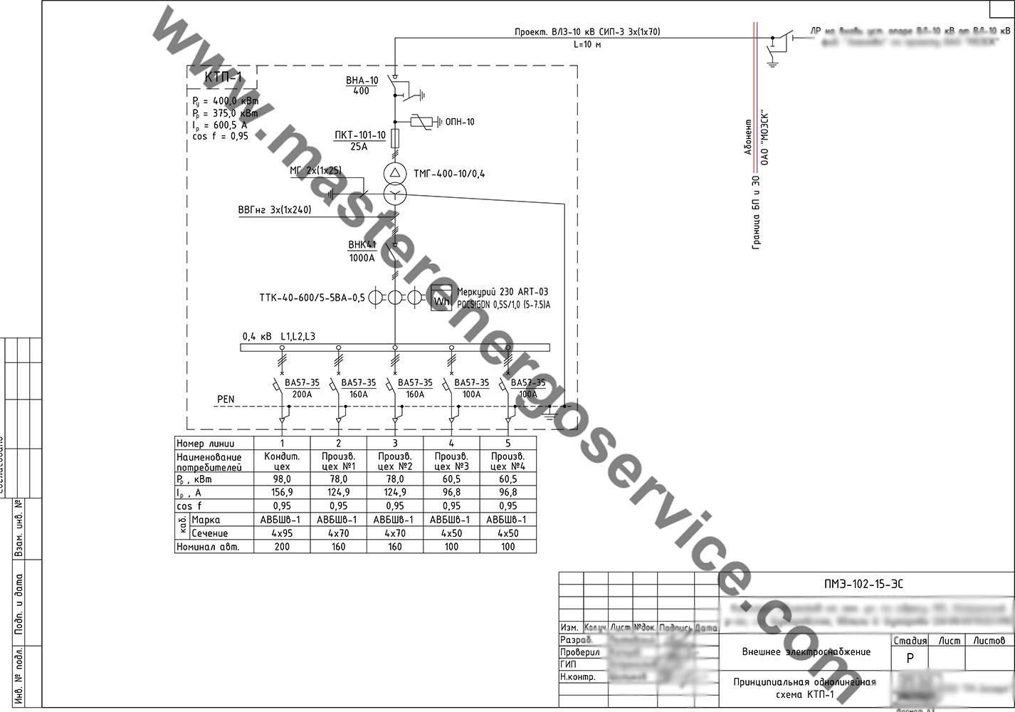 исполнительная схема электромонтажная образец
